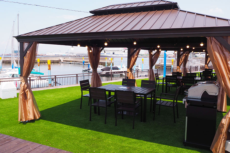 南大阪・泉大津に新たなBBQ施設、サンセット眺める海辺で