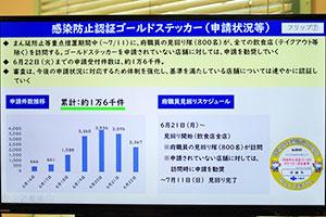 大阪で酒提供は金色ステッカーが条件、申請1万6千件へ急増