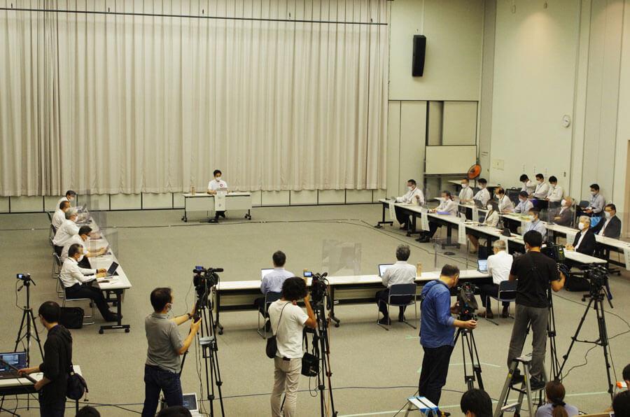 この日おこなわれた『大阪府新型コロナウイルス対策本部会議』の様子(6月18日・大阪府庁)