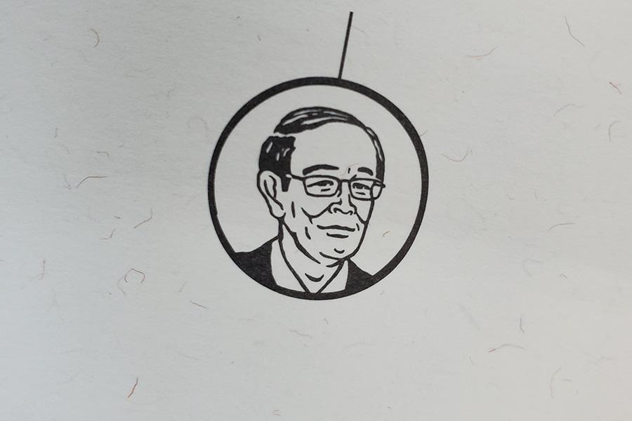 パッケージには納豆を作るきっかけをくれた俳優の故・志賀廣太郎さんのイラストをさりげなく載せて。ご家族もとても喜んでくれたそ