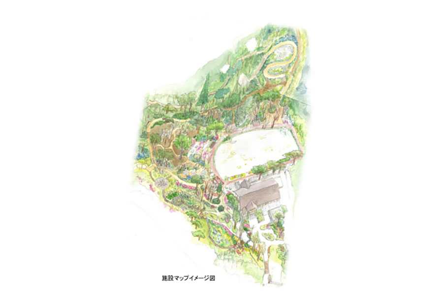 「ROKKO森の音(ね)ミュージアム」の施設マップイメージ図