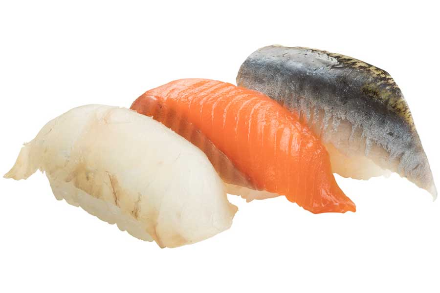 天然魚3貫盛り(165円)