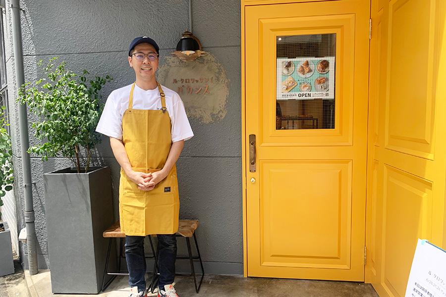 大阪の人気ブランジェリでも経験を重ねてきた、店長の追中隆さん