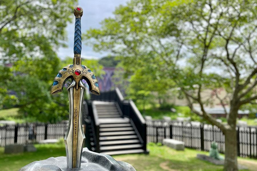 ファン必見の勇者の剣。ここにあるからには今回のストーリーにも関連があるかも!?
