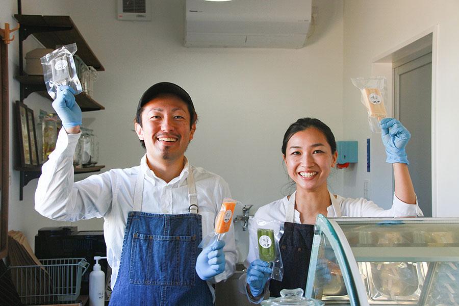 「ICE UP」店主の多田建三さんと奥さまのゆうこさん