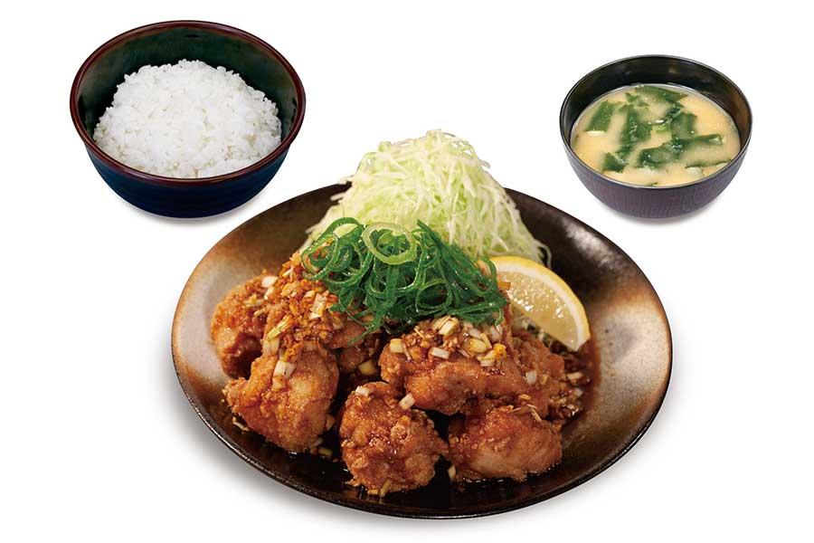 本格唐揚げのやみつき油淋鶏定食(750円)