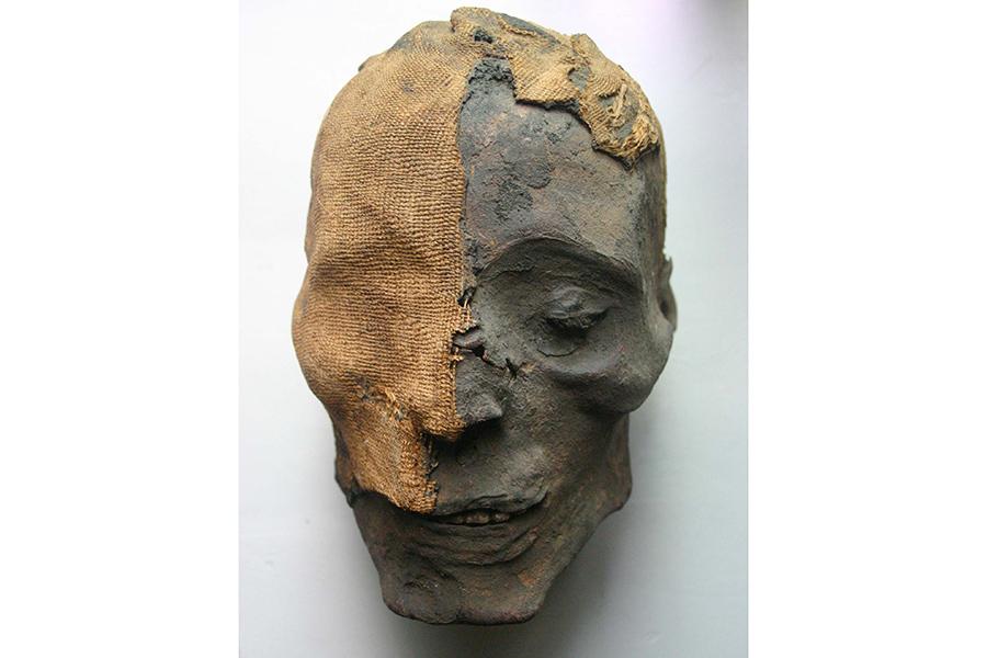 男性のミイラ(頭部) ライス・エンゲルホルン博物館 REISS-ENGELHORN-MUSEEN, MANNHEIM