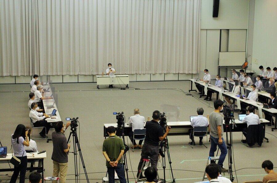 国へまん防の延長を要請することを決めた『大阪府新型コロナウイルス対策本部会議』(7月7日・大阪府庁)