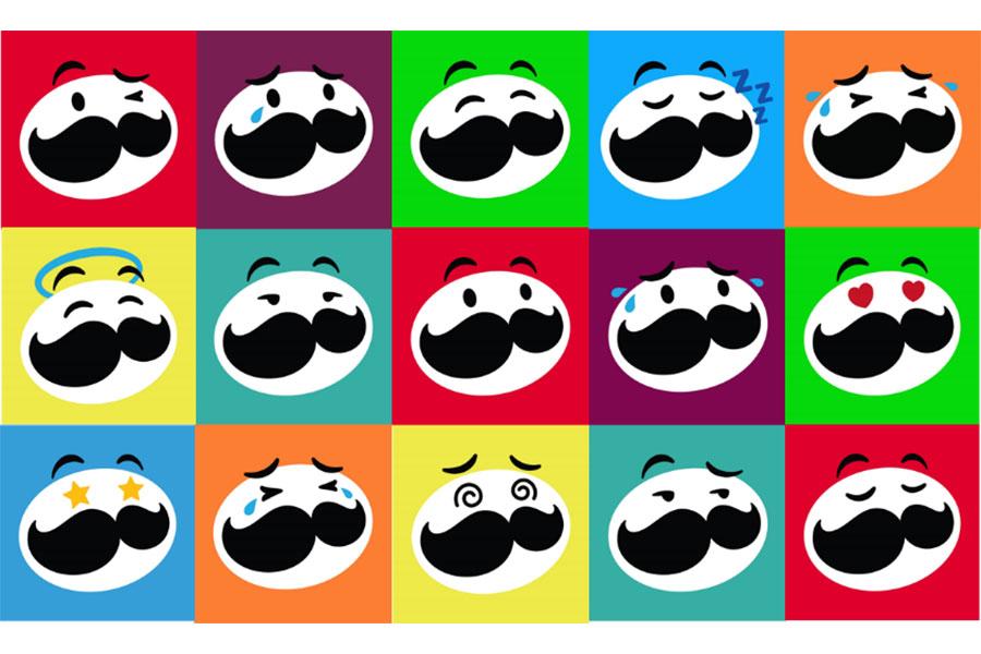 様々な感情を表現する表情豊かな「Mr.P」