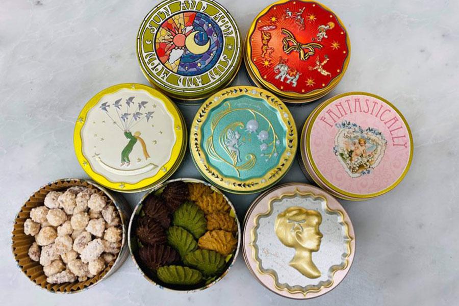 いなだみほさんによる「miho à la mode」では、神戸・垂水の「アグリコール」の缶に入ったサブレ&プラリネを販売
