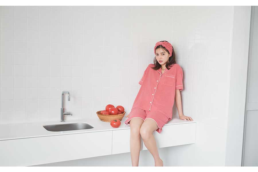 トマトブレンドパジャマ 半袖&ハーフパンツ(2990円)