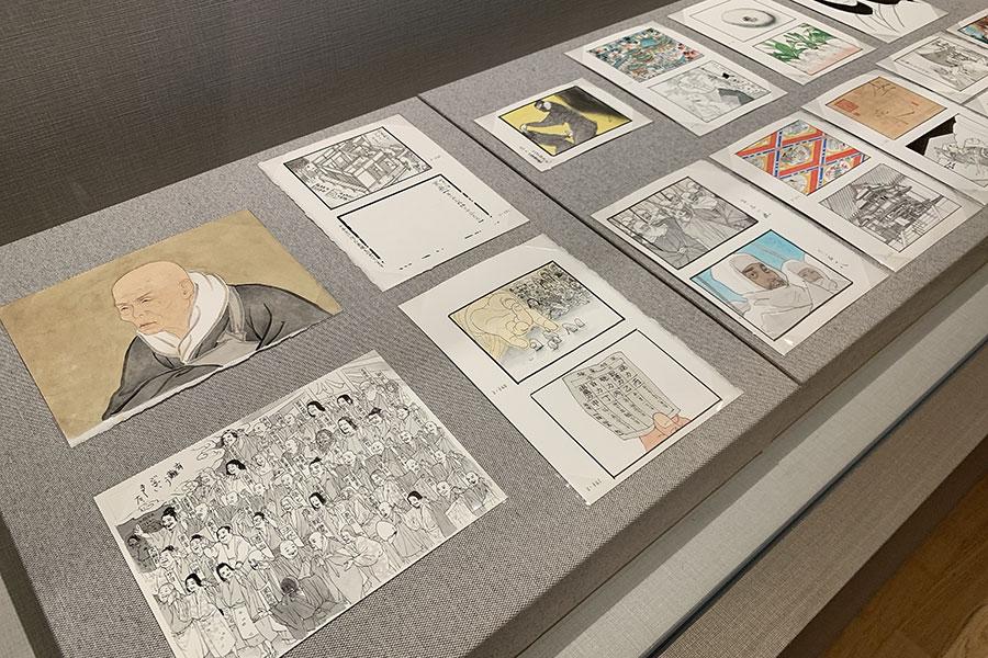 2008年から2014年にかけて手掛けた五木寛之氏による新聞連載小説「親鸞」の挿画