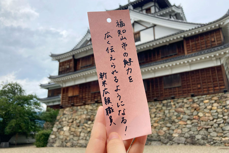 福知山市の魅力を発信するため日々奮闘している広報さん