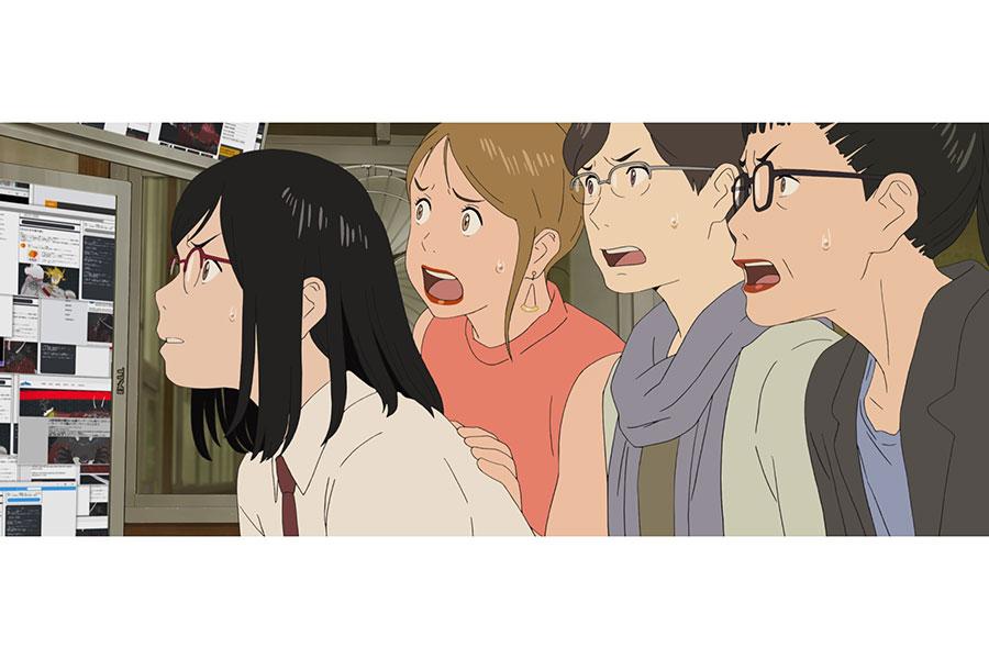 左から、すずの親友・弘香(幾田りら)と、女声合唱隊のメンバーたち(岩崎良美、中尾幸世、坂本冬美) (C)2021 スタジオ地図