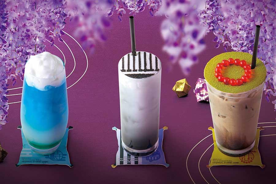 (左から)空色ソーダ、黒すぐりヨーグルト、ほうじ茶ミルク