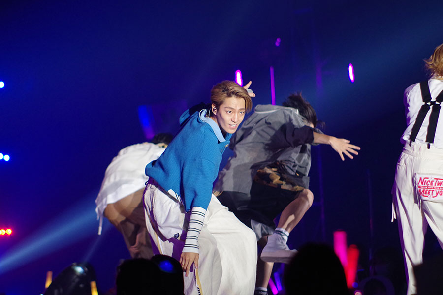 『関西コレクション』のライブステージに登場した7ORDERの森田美勇人(5日・京セラドーム大阪)