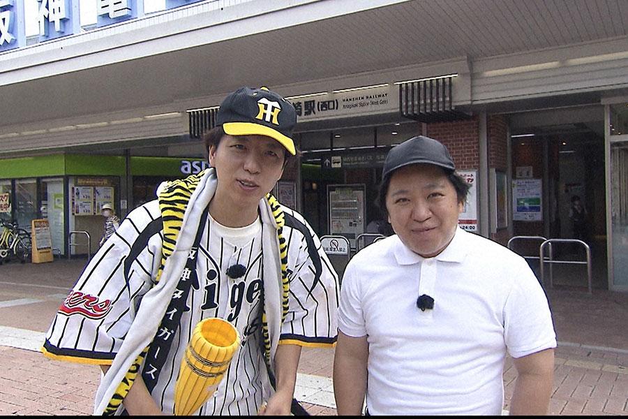 「千鳥の野球チームを作ろう!シーズン2」では、今年のキングオブコント決勝にも出場、今若手芸人で最も勢いがあるとも噂されるニッポンの社長が登場 (C)ABCテレビ