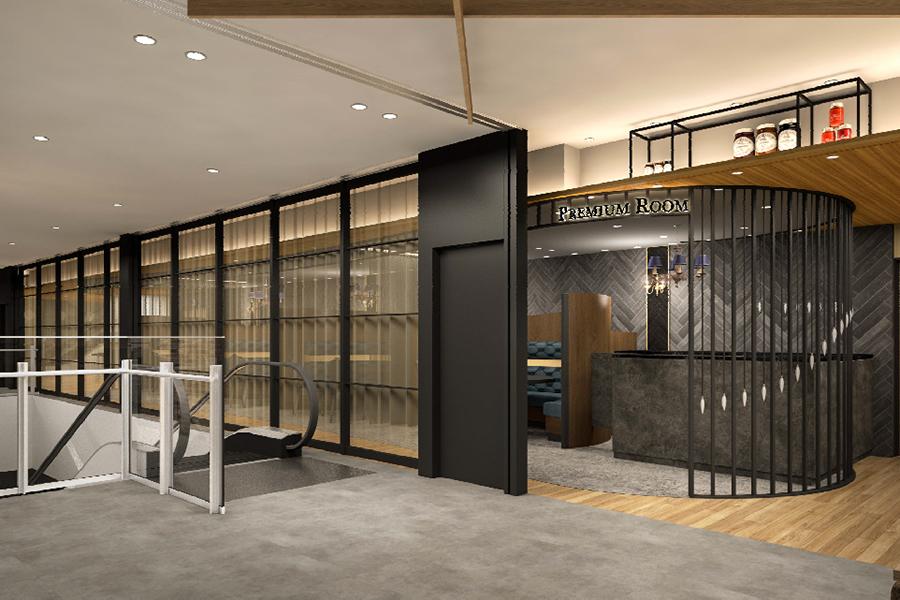 フードホール用の「プレミアムルーム」。各店舗の料理を個室空間でサーブしてもらえる