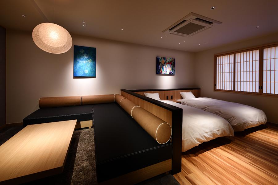 客室は6室それぞれデザインが異なる