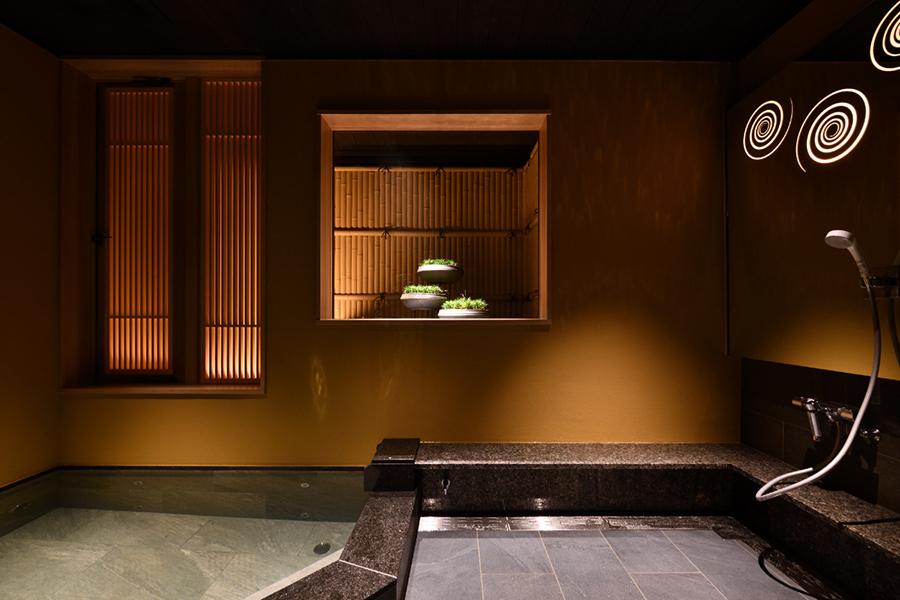 天然香住温泉を楽しめる貸切風呂