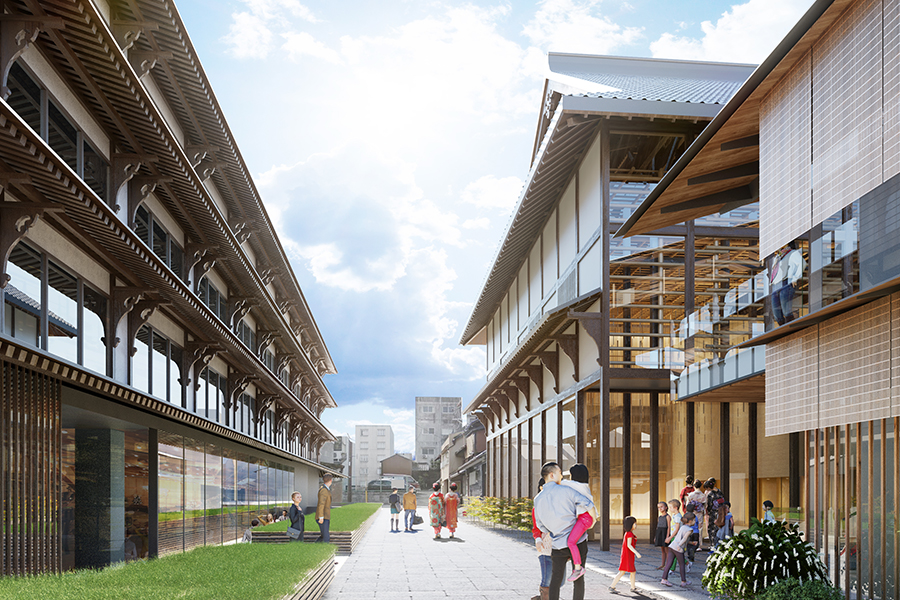 新施設がオープンし、新たな新道通のイメージ