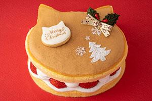 可愛いすぎニャ・・・ネコちゃんクリスマスケーキが大阪に