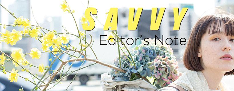 SAVVY Editor's Note